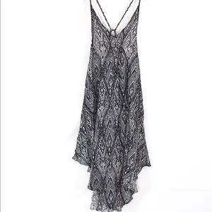 Free People Black and White Beach Coverup Dress